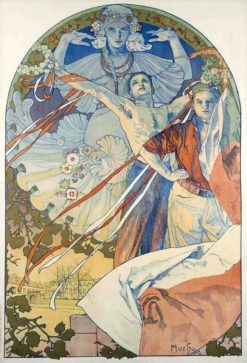 Poster for the 8th Sokol Festival in Prague | Alfons Mucha | Oil Painting