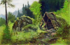 Hut in the Woods | Arseny Meschersky | Oil Painting