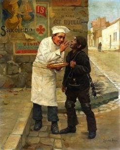 A stolen morsel | Paul-Charles Chocarne-Moreau | Oil Painting