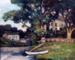 At the Pawtuxet | Edward Mitchell Bannister | Oil Painting