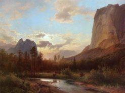 Buffalo Hunt | Albert Bierstadt | Oil Painting