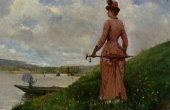 Promenade sur le Bond de l'Oise | Paul-Charles Chocarne-Moreau | Oil Painting