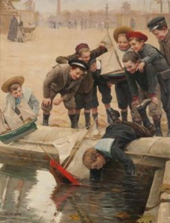 Boys and their Sailboats | Paul-Charles Chocarne-Moreau | Oil Painting