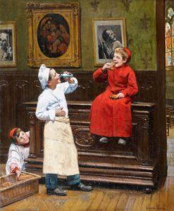 Entre deux larrons | Paul-Charles Chocarne-Moreau | Oil Painting