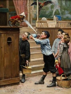 Teasing | Paul-Charles Chocarne-Moreau | Oil Painting