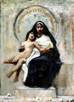 Madonna with Child | Bruno Piglhein | Oil Painting