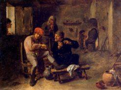 Tavern Scene (also known as The Village Fiddler)   Adriaen Brouwer   Oil Painting
