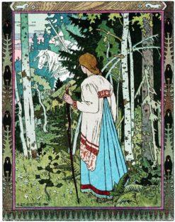 Vasilisa and the White Knight | Ivan Yakovlevich Bilibin | Oil Painting