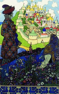 Prince Gvidon and the Queen | Ivan Yakovlevich Bilibin | Oil Painting