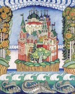 The Town of Kitezh | Ivan Yakovlevich Bilibin | Oil Painting