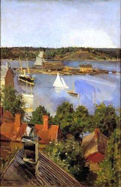 View from North Quay (also known as Näkymä Pohjoisrannasta) | Akseli Gallen-Kallela | Oil Painting