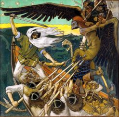 The Defense of the Sampo (also known as Sammon puolustus) | Akseli Gallen-Kallela | Oil Painting