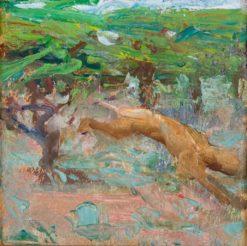 Leaping lion (also known as Leijona loikkaa) | Akseli Gallen-Kallela | Oil Painting