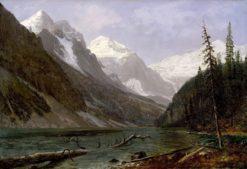 Canadian Rockies (also known as Lake Louise) | Albert Bierstadt | Oil Painting