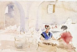 Interior from Spain (also known as Tobacco Factory in Seville) | Albert Edelfelt | Oil Painting