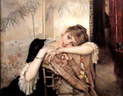 The Parisienne (also known as Virginie) | Albert Edelfelt | Oil Painting