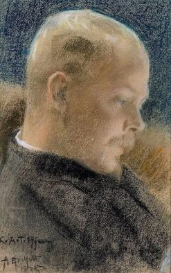 Portrait of the Author Karl A. Tavaststjerna (also known as Portrait of Karl A.Tavaststjerna the Writer) | Albert Edelfelt | Oil Painting
