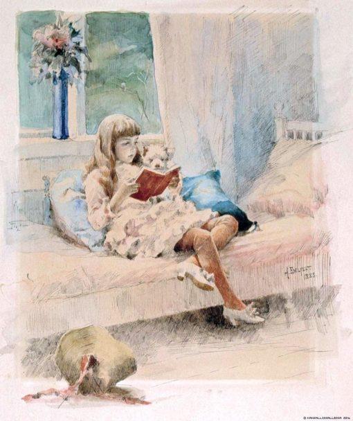 Dear Friends III (also known as Berta and Capi) | Albert Edelfelt | Oil Painting