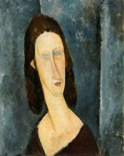Blue Eyes (also known as Portrait of Madame Jeanne Hébuterne) | Amedeo Modigliani | Oil Painting