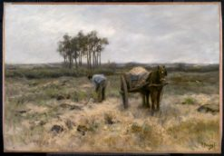 Digging Sand (also known as The Sand Cart) | Anton Mauve | Oil Painting