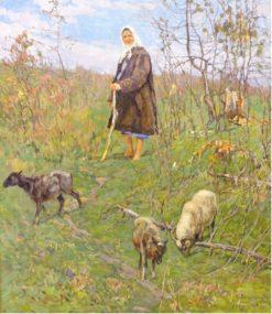 Shepherdess | Konstantin Semenovich Vysotsky | Oil Painting