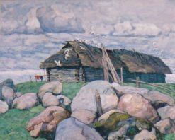 Landscape with a Cottage | Konstantin Semenovich Vysotsky | Oil Painting
