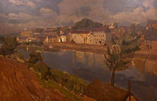 Carmarthen Quay | Edward Morland Lewis | Oil Painting