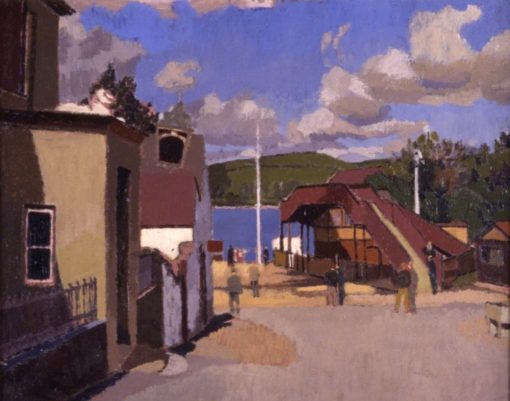 Ferryside Station | Edward Morland Lewis | Oil Painting