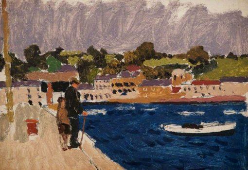 Harbour Scene   Edward Morland Lewis   Oil Painting
