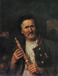 Man with a Clarinet | Alexei Markov | Oil Painting