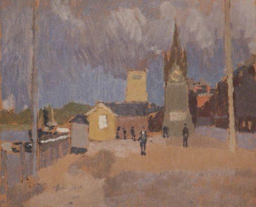 Irish Quayside | Edward Morland Lewis | Oil Painting