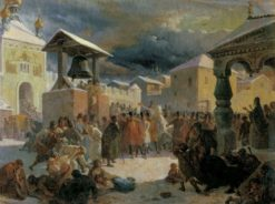 Gathering in Novgorod | Vasily Khudyakov | Oil Painting