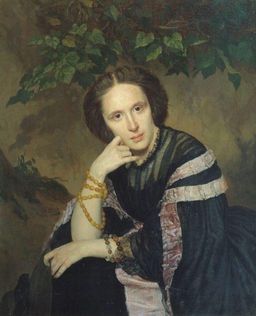 Portrait of a Lady | Vasily Khudyakov | Oil Painting