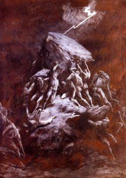 The Clash of the Titans | Gustave Doré | Oil Painting