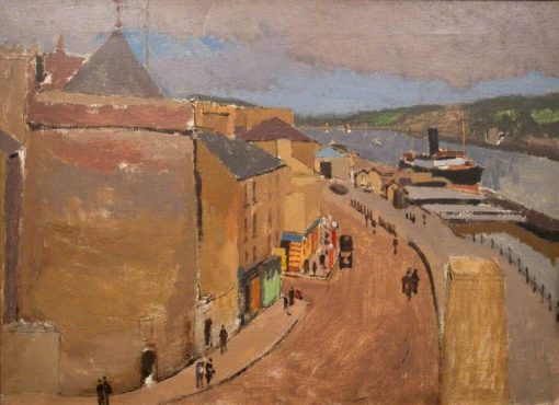 River Quayside   Edward Morland Lewis   Oil Painting