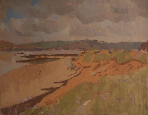 St Ishmael's Sand Dunes | Edward Morland Lewis | Oil Painting