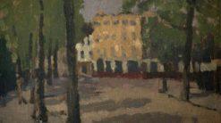 Street Scene | Edward Morland Lewis | Oil Painting