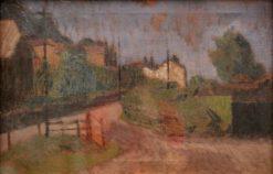 Village Scene with Gate