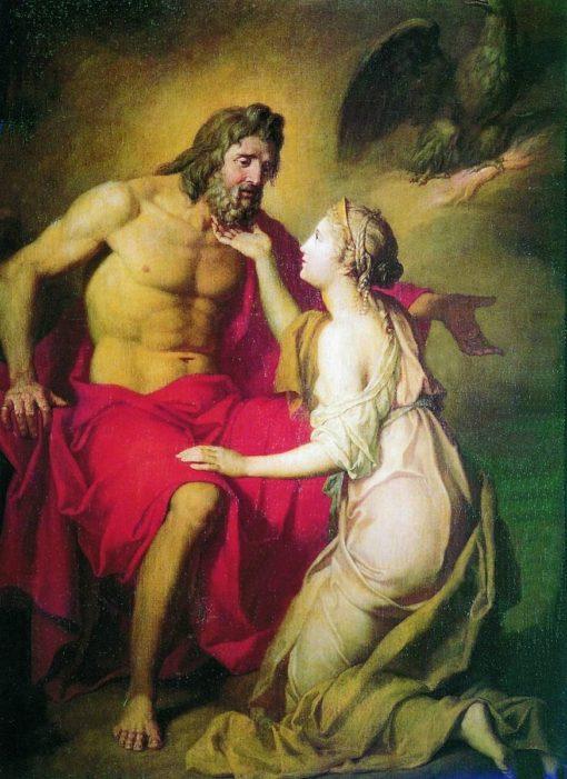 Zeus and Phetis | Anton Losenko | Oil Painting