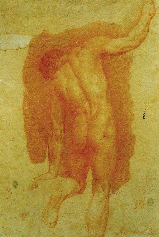 Male Nude (study) | Anton Losenko | Oil Painting