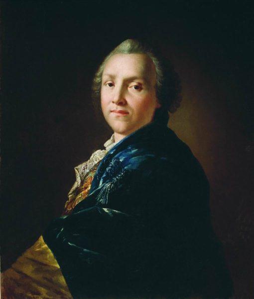 Portrait of Poet Alexander Sumarokov   Anton Losenko   Oil Painting