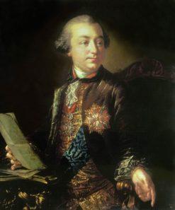 Portrait of Ivan Shuvalov   Anton Losenko   Oil Painting