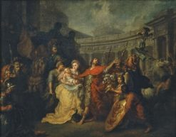 Farewell of Hector and Andromache (study) | Anton Losenko | Oil Painting