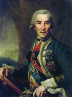 Portrait of Ivan Golenischev-Kutuzov | Dmitry Levitsky | Oil Painting