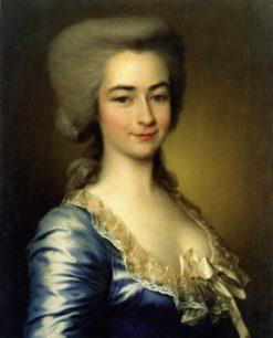 Portrait of a Lady in Blue Dress | Dmitry Levitsky | Oil Painting