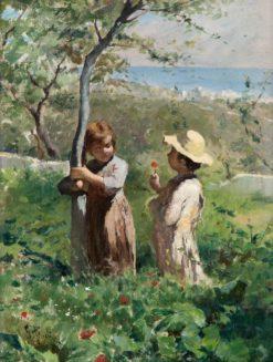 Playing Children   Georg Pauli   Oil Painting