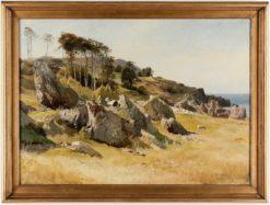 Coastal Scene from Arild | Gustaf Rydberg | Oil Painting