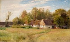 Farm in Falsterbo with flowering meadow | Gustaf Rydberg | Oil Painting