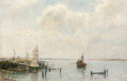 Fishing Nets on Ringsjön   Gustaf Rydberg   Oil Painting