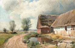 Landscape with farmhouse and road | Gustaf Rydberg | Oil Painting